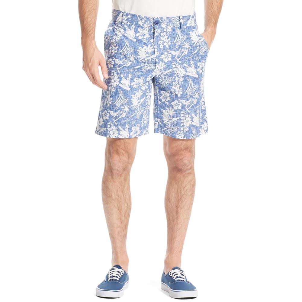 IZOD Men's Saltwater Stretch Shorts - B COBALT TROP-492