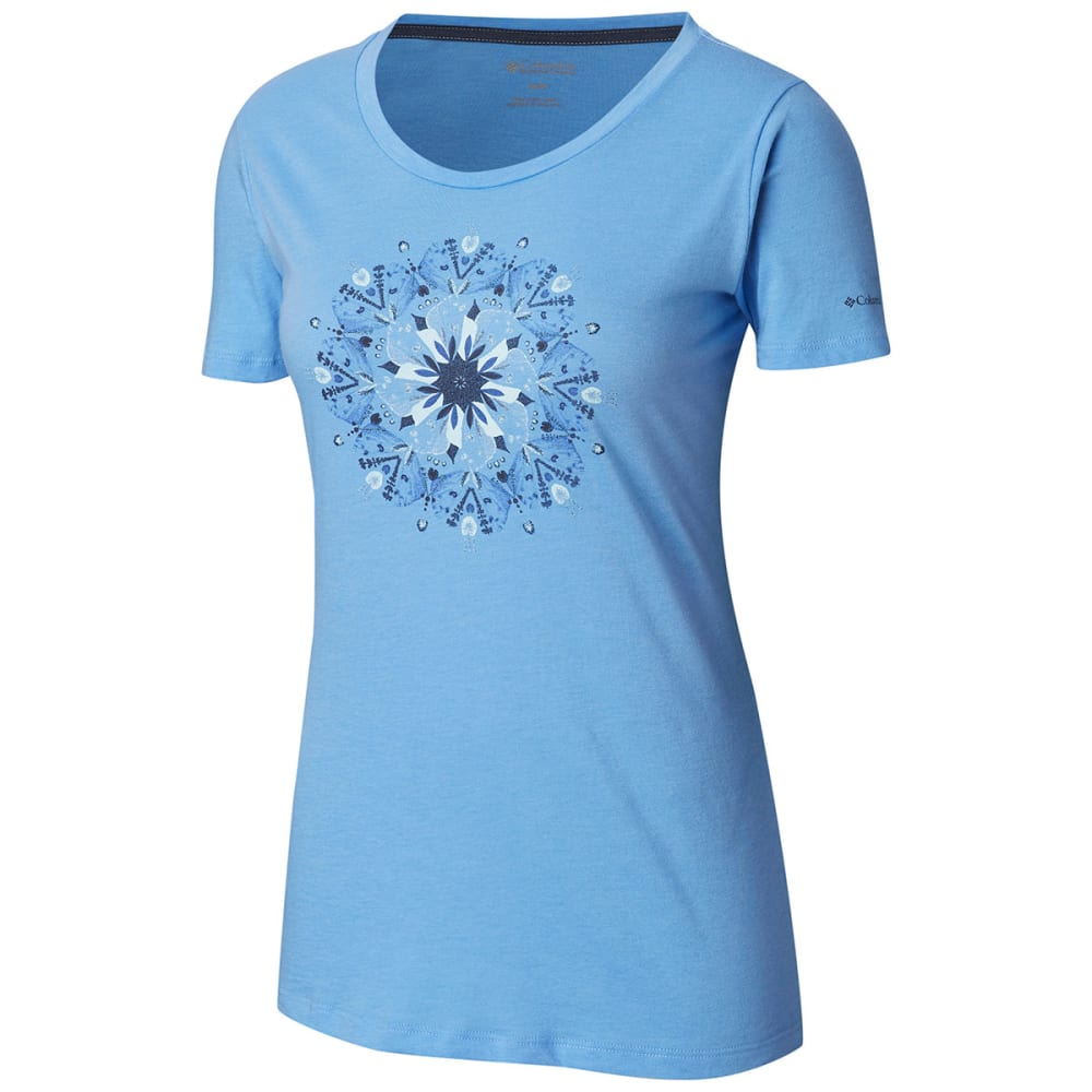 Columbia Women's Butterfly Wing Medallion Short-Sleeve Tee - White, M