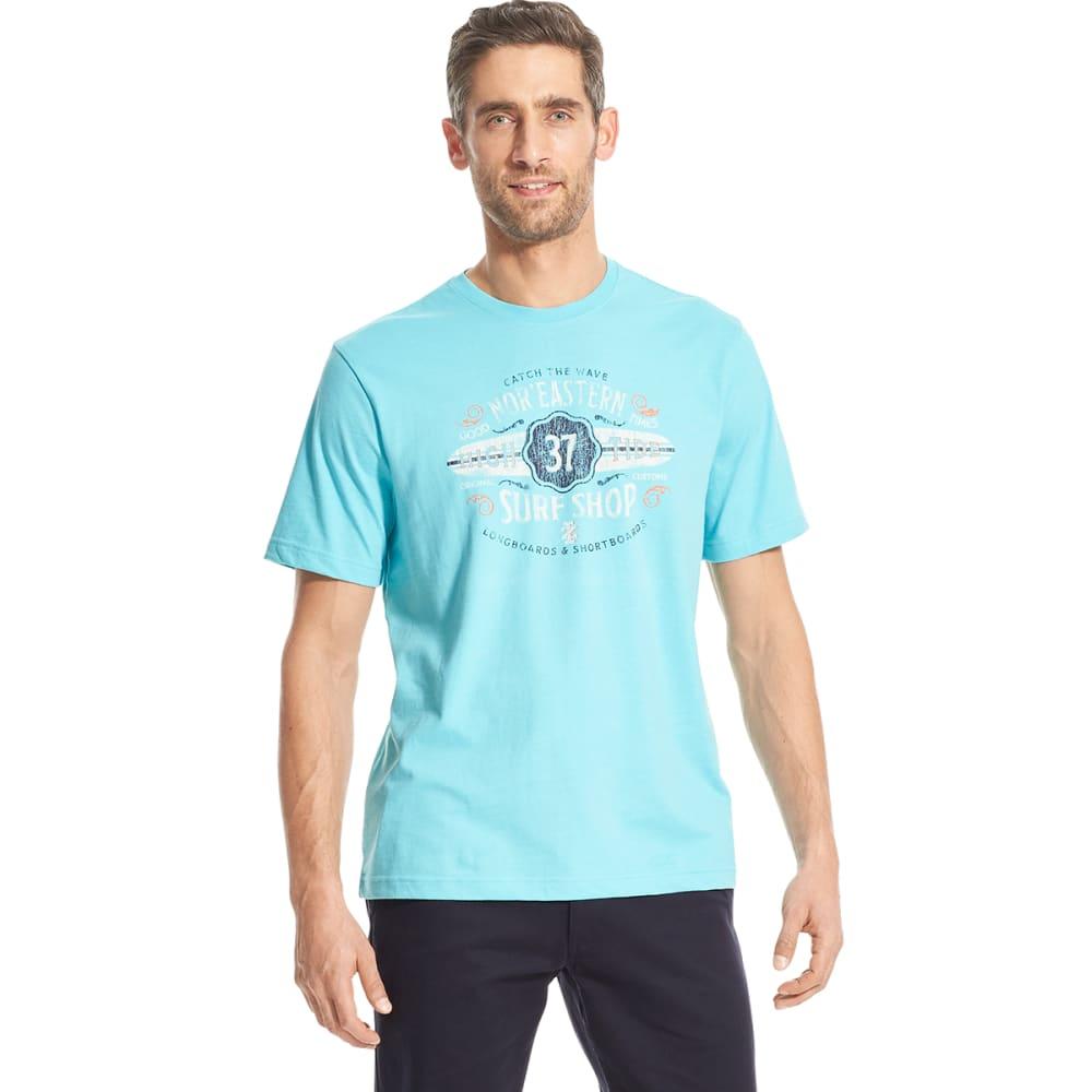 IZOD Men's Short-Sleeve Nor'eastern Surf Ship Graphic Tee - BLUE RADIANCE
