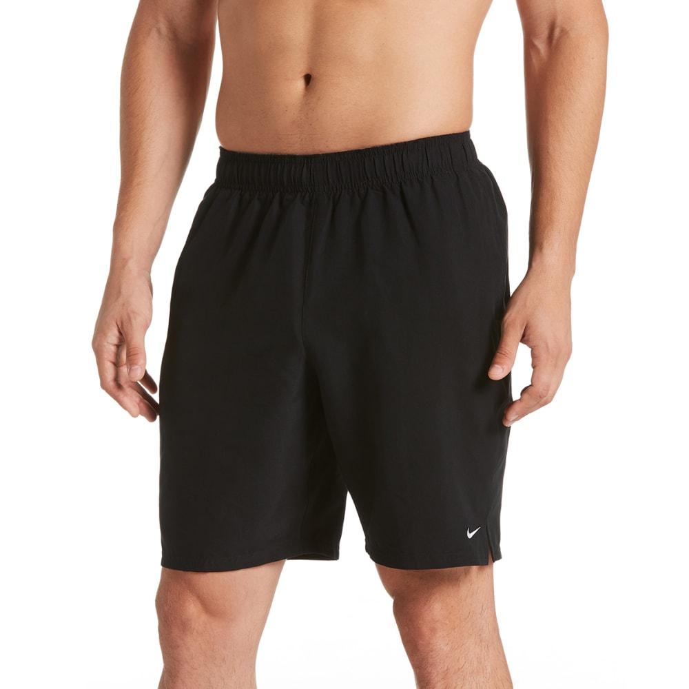 NIKE Men's 9 in. Solid Lap Volley Swim Shorts - 001 BLACK