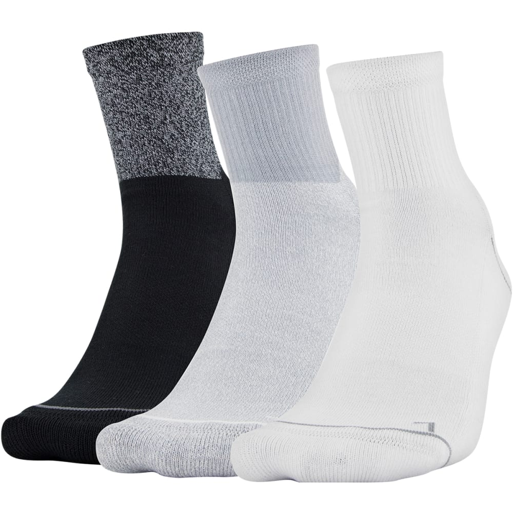 Under Armour Men's Phenom Quarter Sock - 3 Pack - Various Patterns, L