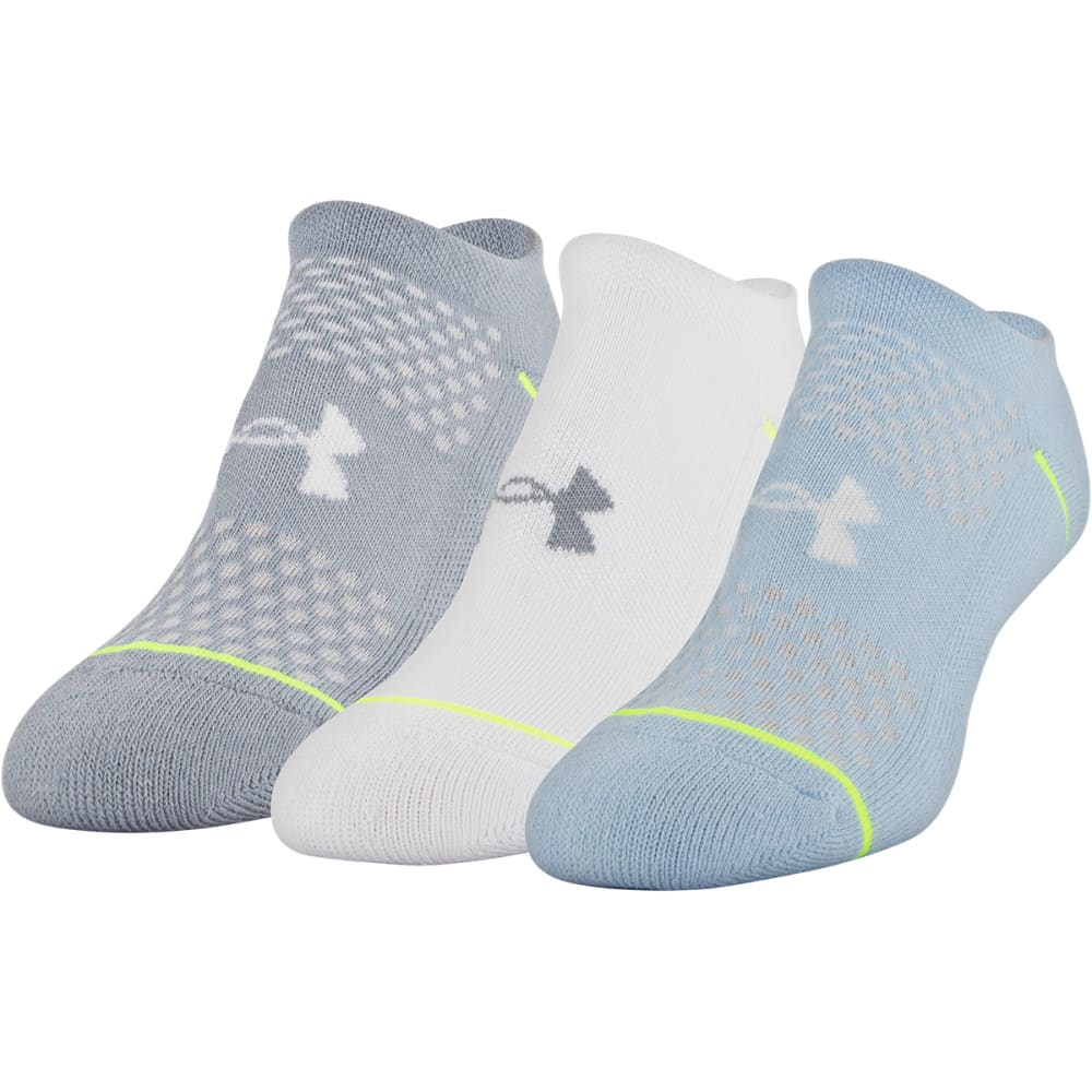 Under Armour Women's Phenom No-Show Sock - 3 Pack - Various Patterns, M