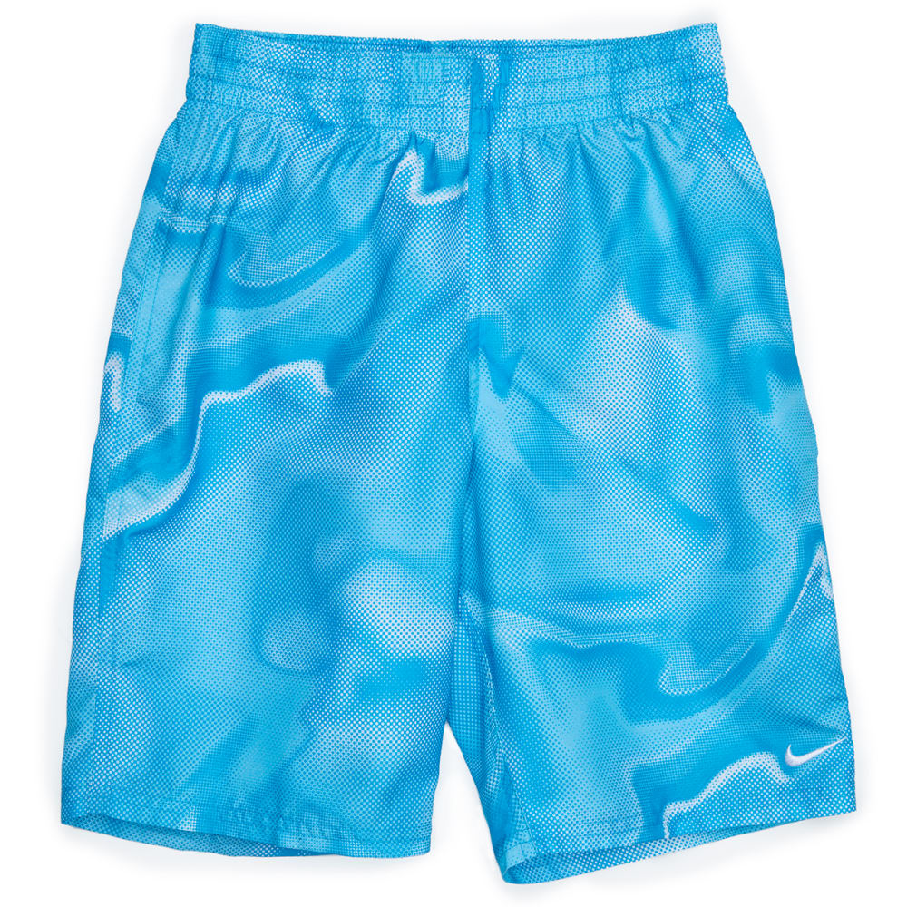 NIKE Big Boys' 8 in. Amp Axis Lap Volley Shorts - 430-LT BLUE FURY