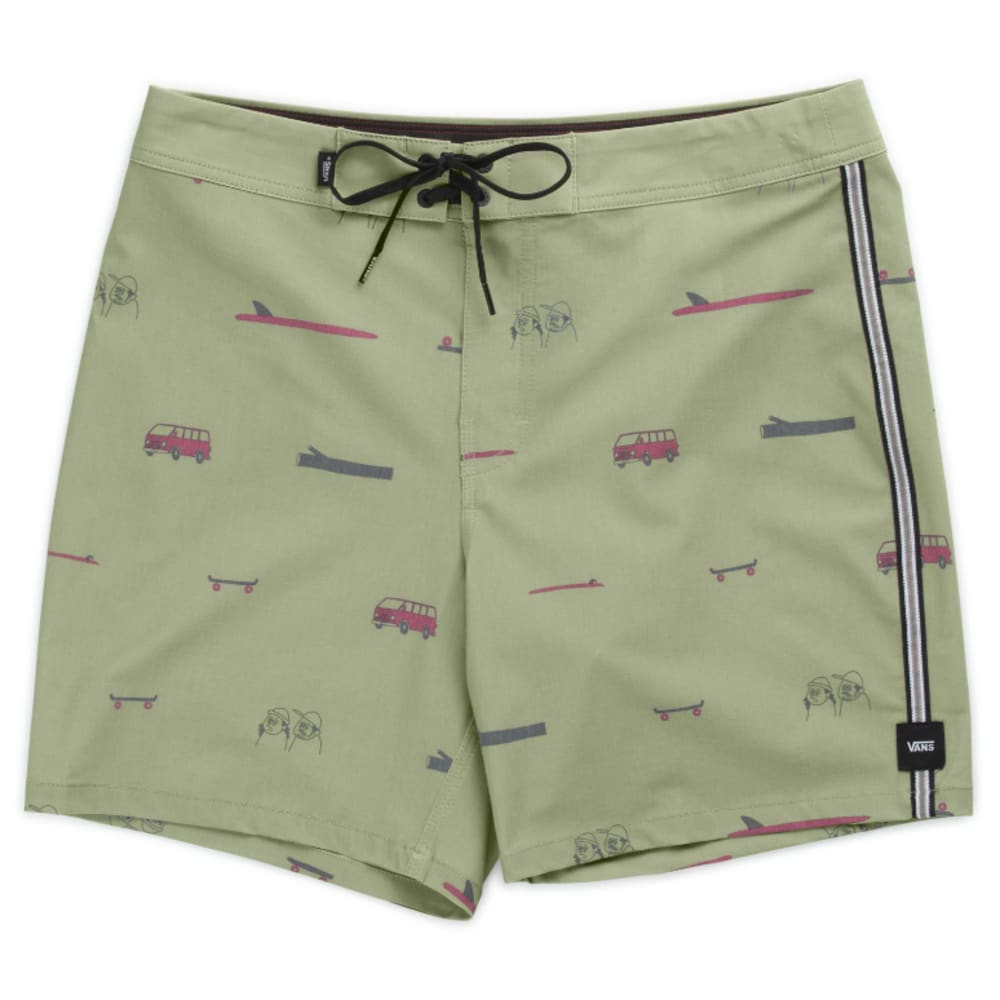 Vans Guys' 17 In. Vans X Yusuke Hanai Boardshorts - Green, 30