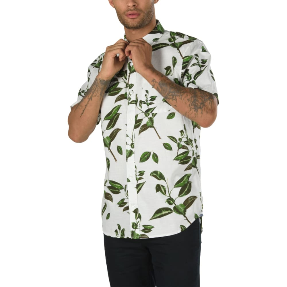 VANS Guys' Rubber Co. Woven Short-Sleeve Shirt S