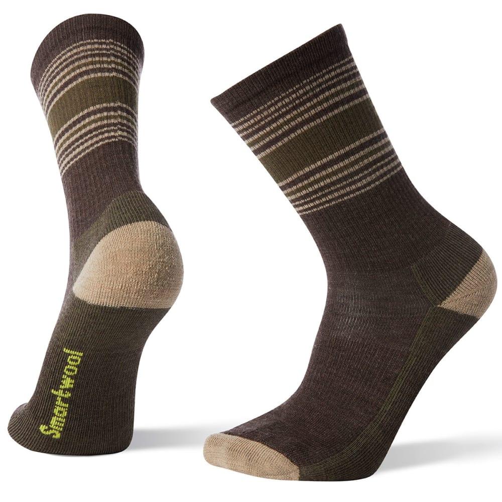 SMARTWOOL Men's Hike Striped Light Crew Socks - 207-CHESTNUT