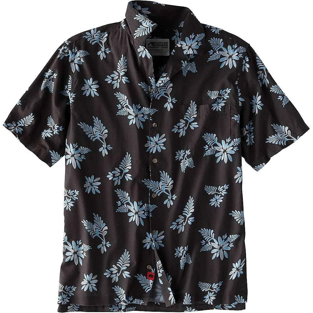 MOUNTAIN KHAKIS Men's Chee Pono Short-Sleeve Shirt - 911-SLATE PRINT