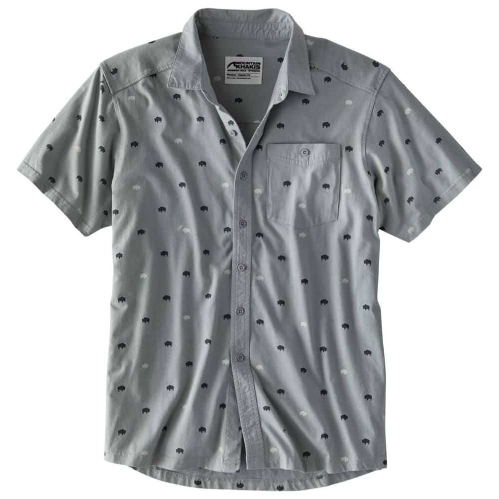 MOUNTAIN KHAKIS Men's Tatanka Short-Sleeve Shirt - 913-SMOKE PRINT