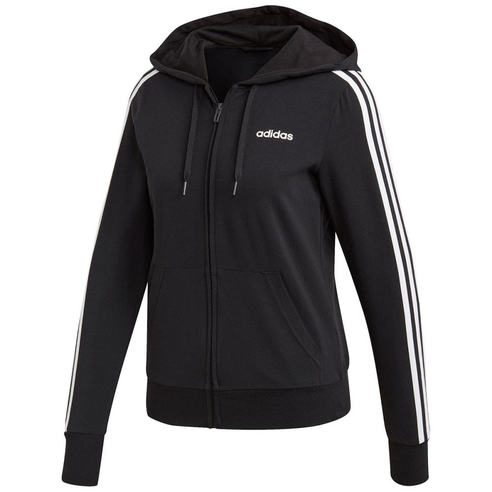 Adidas Women's Essentials 3-Stripes Hoody - Black, S