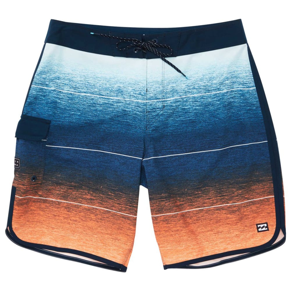 Billabong Guys' 73 Stripe Pro Boardshorts - Orange, 30