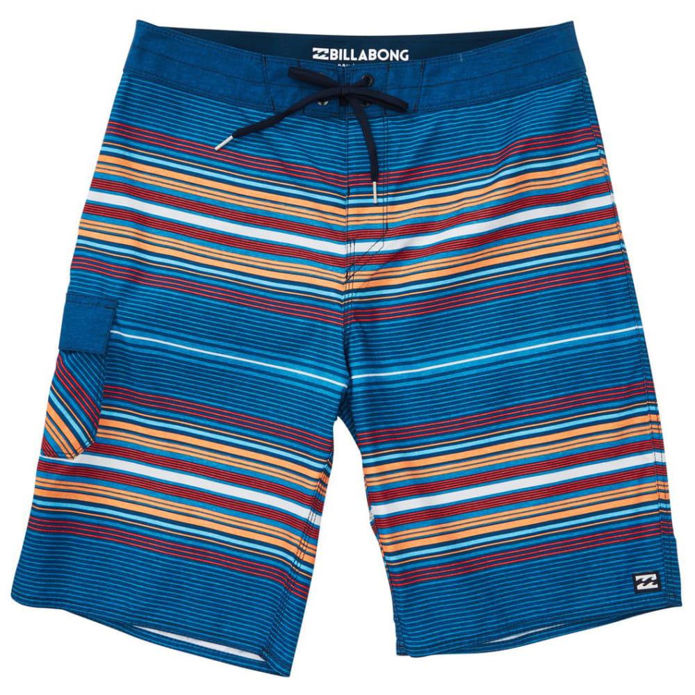 Billabong Guys' All Day Stripe Og Boardshorts - Blue, 30