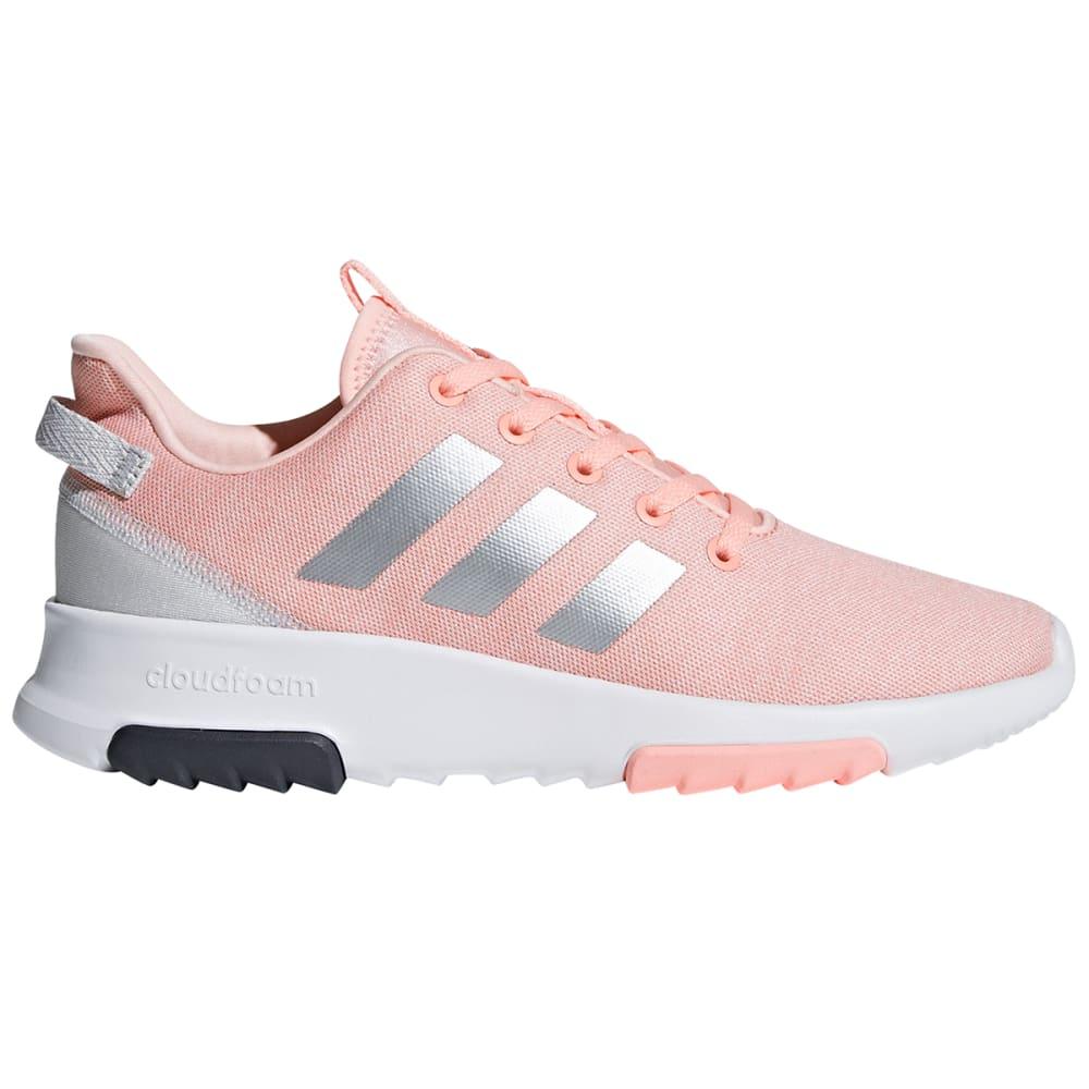 "Adidas Girls"" Cloudfoam Racer Tr Running Shoes - Orange, 3.5"