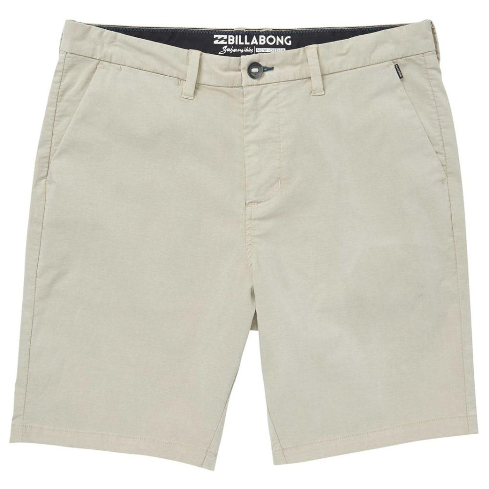 Billabong Guys' New Order X Overdye Shorts - White, 30