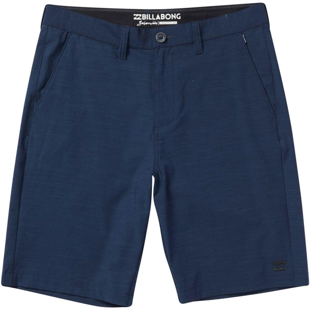 Billabong Guys' Crossfire X Slub Submersibles Shorts - Blue, 30