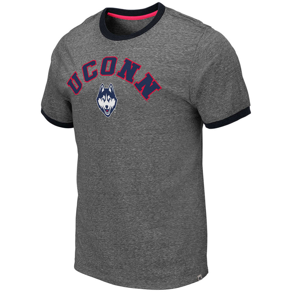 Uconn Men's Short-Sleeve Ringer Tee - Black, M