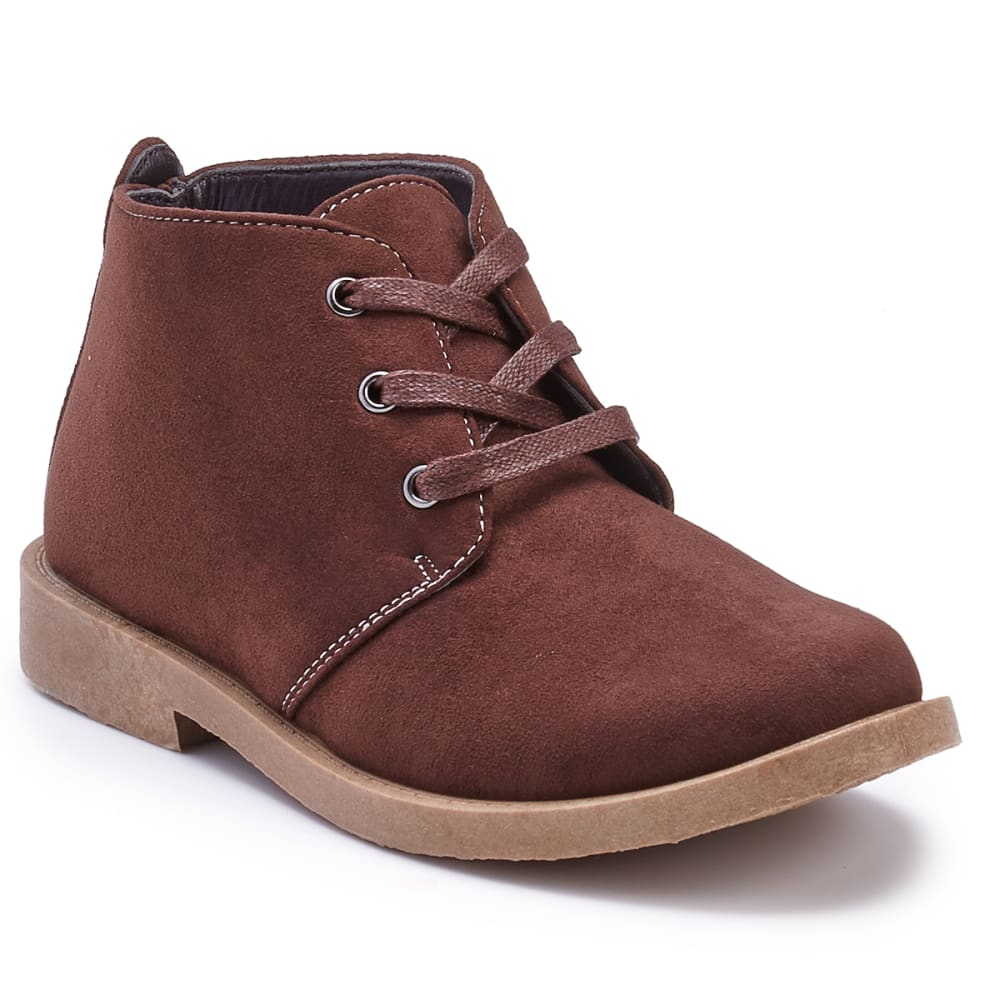 JOSEPH ALLEN Boys' Desert Chukka Boots - BROWN SUEDE
