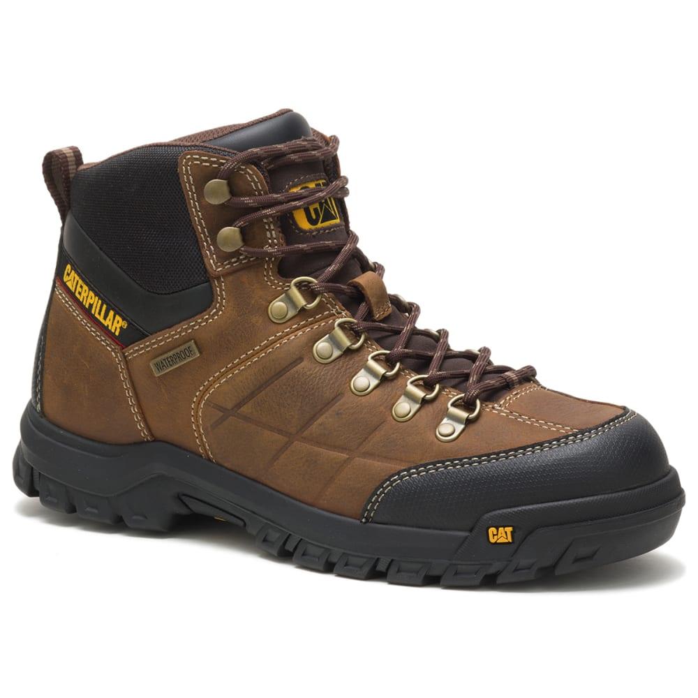 CATERPILLAR Men's 6 in. Threshold Waterproof Work Boots - REAL BROWN