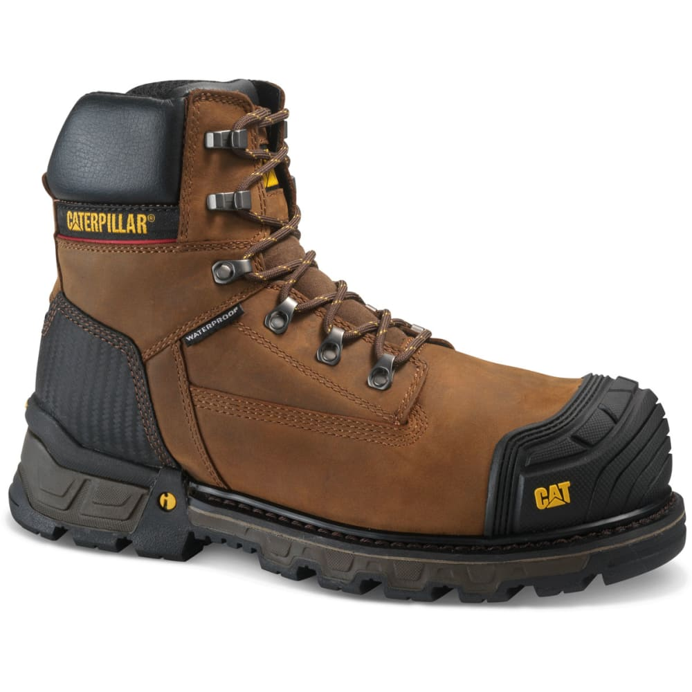 CATERPILLAR Men's 6 in. Excavator XL Waterproof Composite Toe Work Boots - DARK BROWN