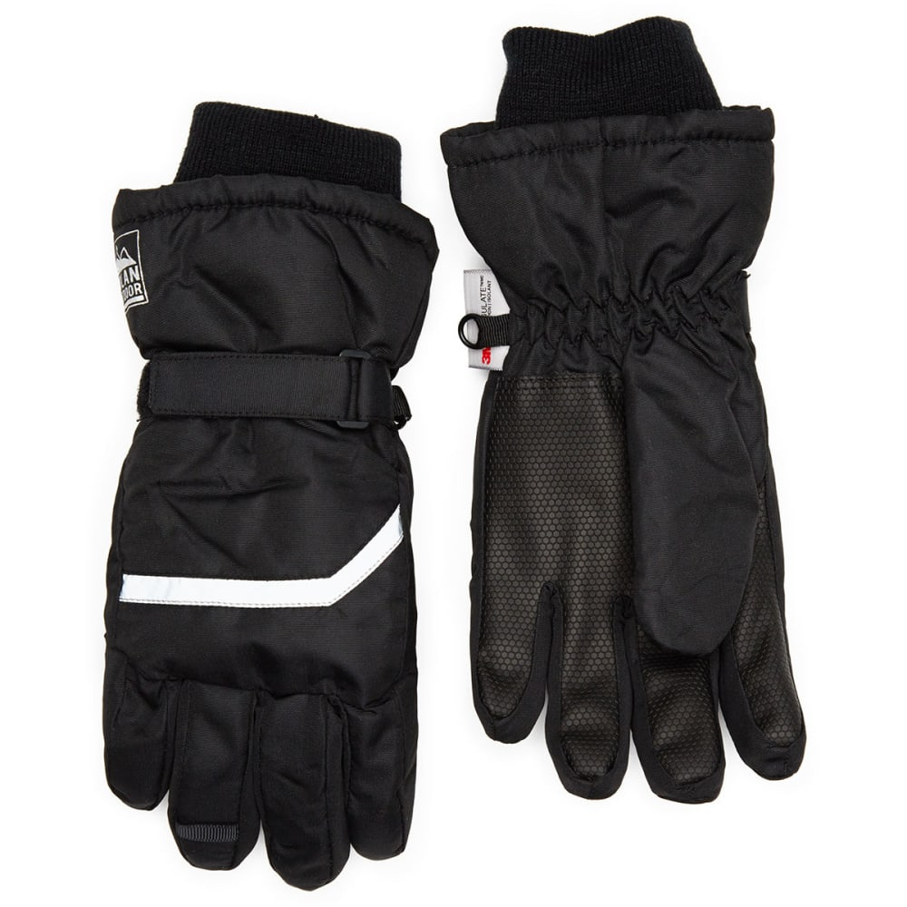 NOLAN Boys' Ski Gloves - BLACK