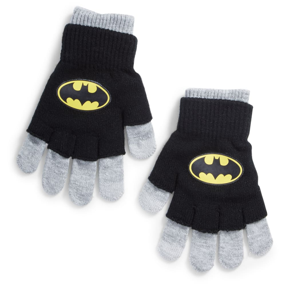 NOLAN Boys' Batman Knit Gloves - BLACK