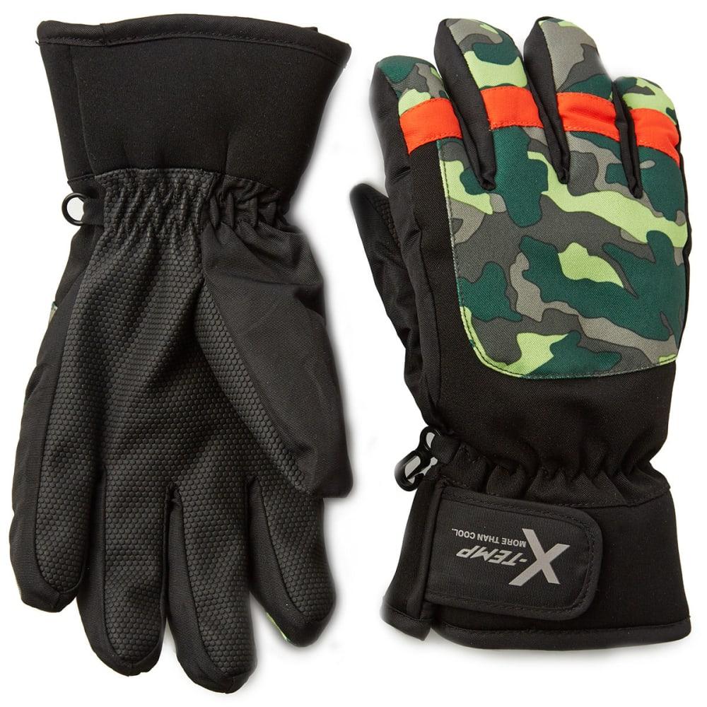 HANES Boys' Camo Ski Gloves - CAMO
