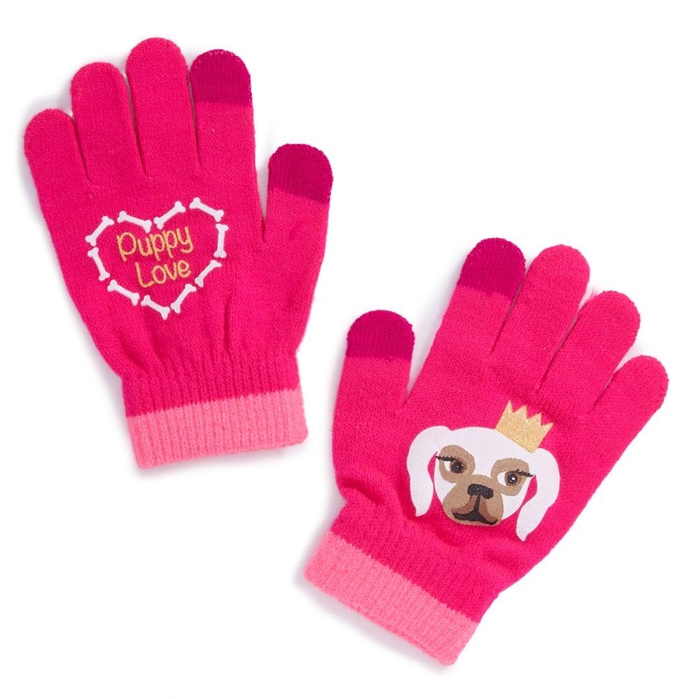 NOLAN Girls' Puppy Love Mittens - PINK
