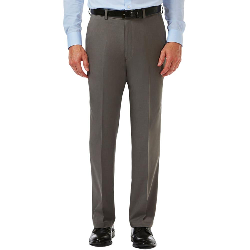 HAGGAR Men's Cool 18 Classic Fit Flat Front Pro Pant 32/30