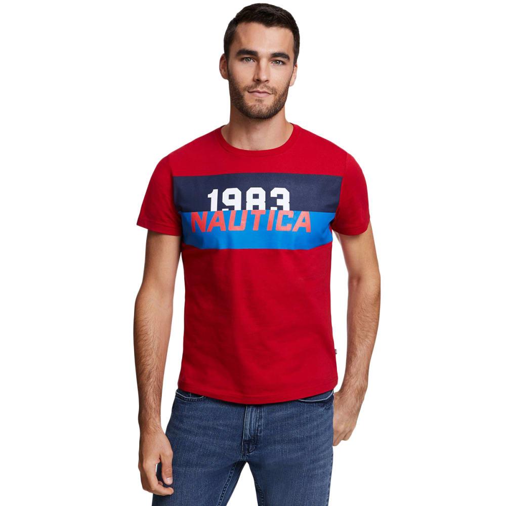 Nautica Men's Heritage Short-Sleeve Graphic Tee - Red, M