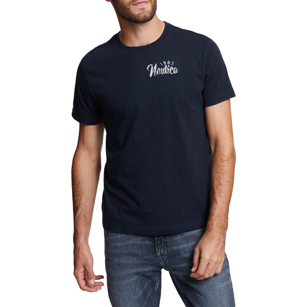 Nautica Men's Maritime Sailing Short-Sleeve Graphic Tee - Blue, M