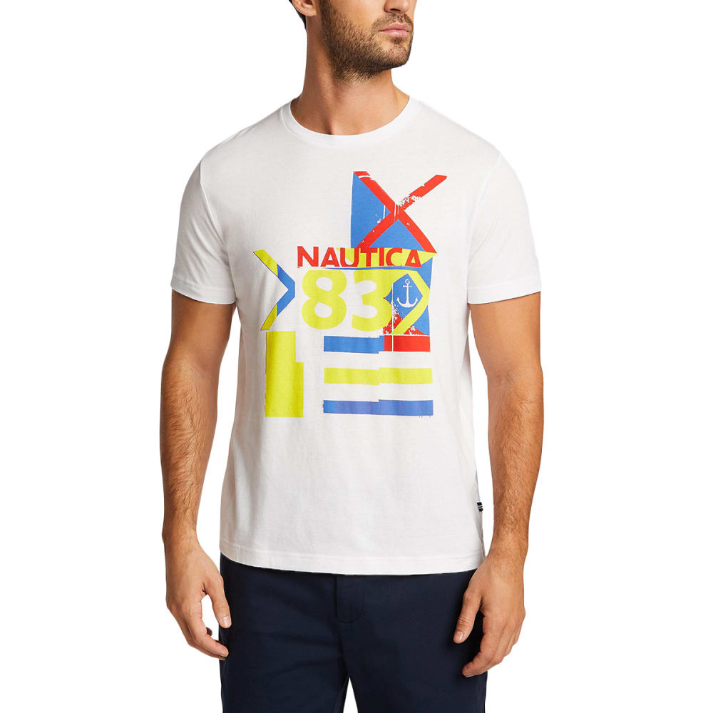Nautica Men's Ns '83 Maritime Sailing Short-Sleeve Graphic Tee - White, L