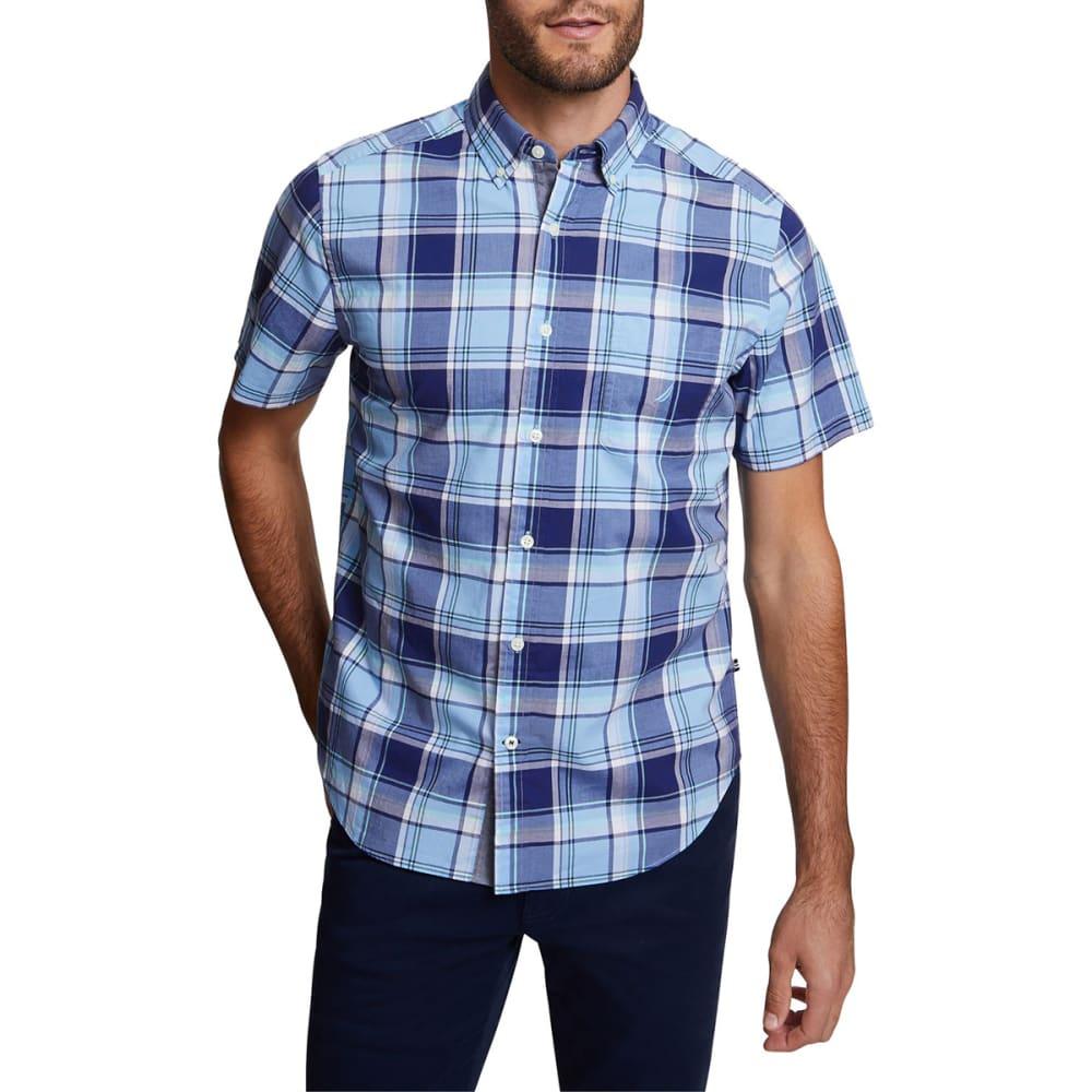 NAUTICA Men's Stretch Poplin Short-Sleeve Classic Fit Shirt M