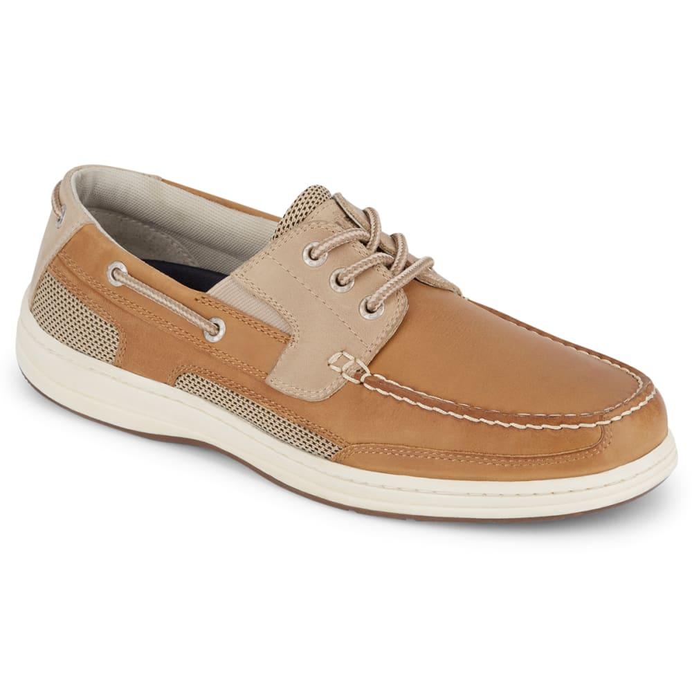 DOCKERS Men's Beacon Boat Shoe - DARK TAN/TAUPE