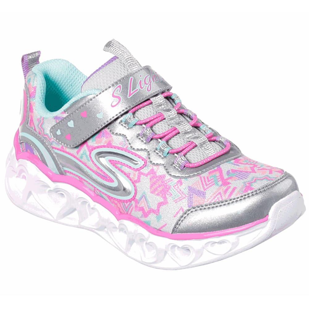 SKECHERS Little Girls' S Lights: Heart Lights Shoes - PINK-SMLT