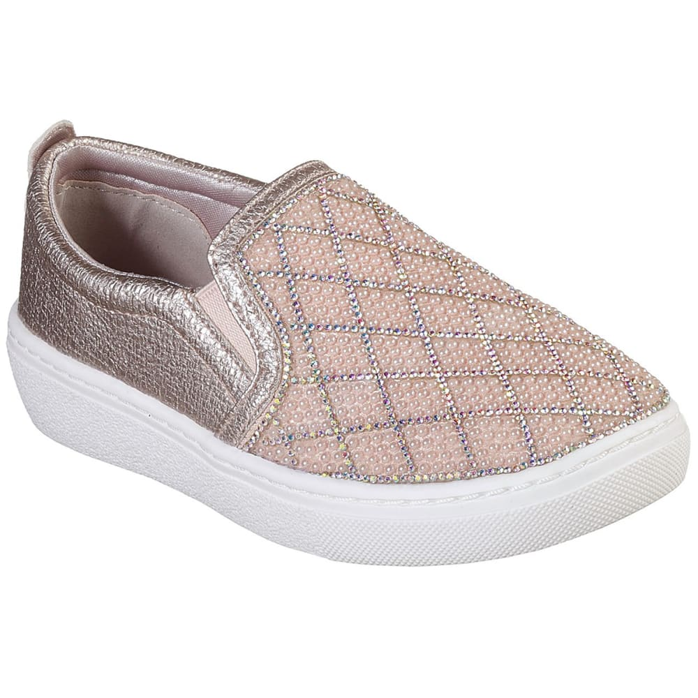SKECHERS Little Girls' Goldie Diamond Darling Slip On Sneakers - ROSE GOLD-RSGD