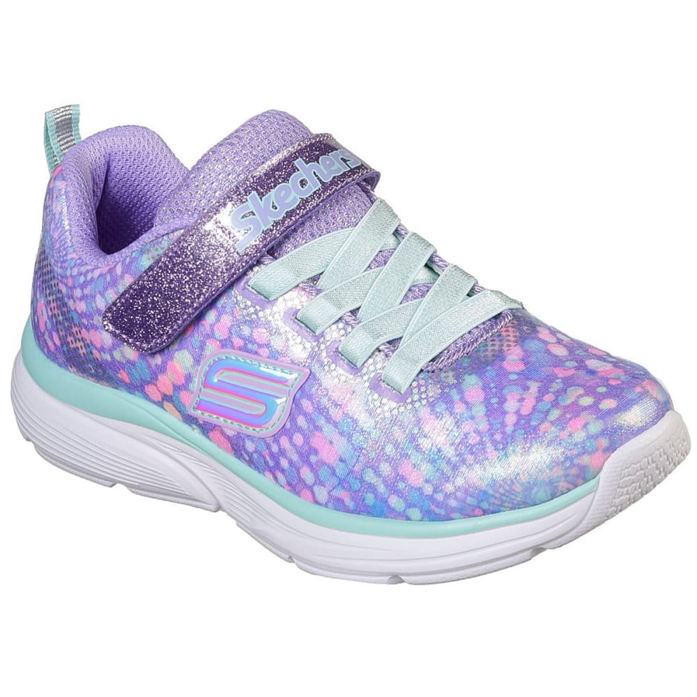 SKECHERS Little Girls Wavy Lites Sneaker 9