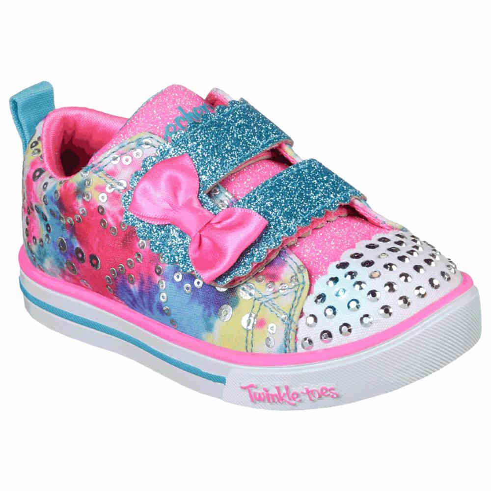 SKECHERS Girls' Twinkle Toes Shuffles Sparkle Lite Sneakers 6