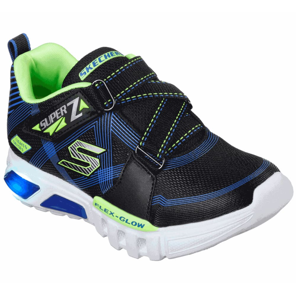 SKECHERS Boys' Flex Glow Parrox Light Up Shoes - BLUE/LIME-BBLM