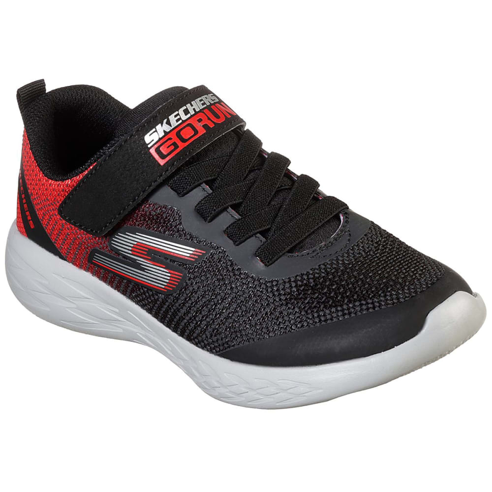 Skechers Boys' Go Run 600 Sneakers - Black, 12