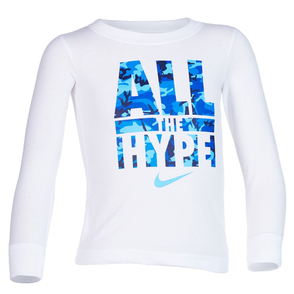 Nike Little Boys' All The Hype Camo Long-Sleeve Tee - White, 5