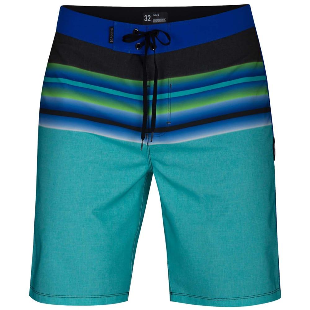 "Hurley Men's Phantom Solace 20"" Boardshorts - Blue, 30"