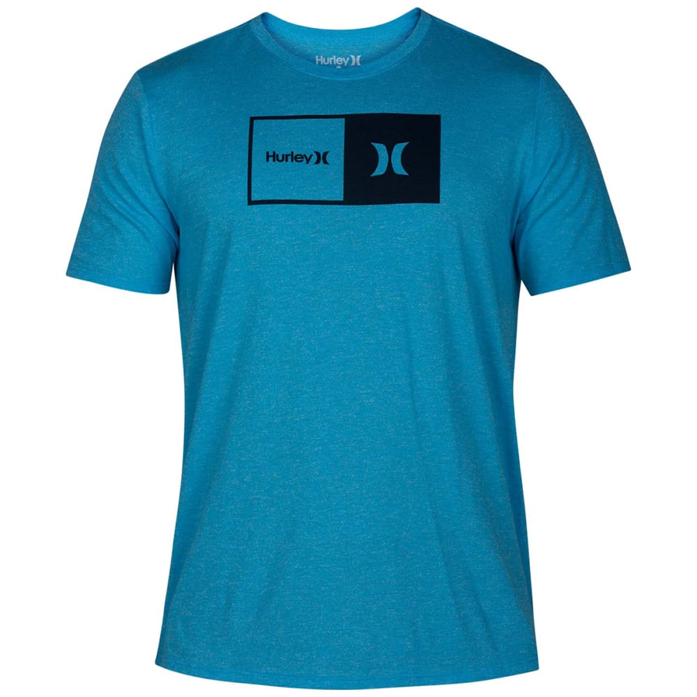 Hurley Young Men's Premium Natural Siro Short-Sleeve Tee - Blue, S