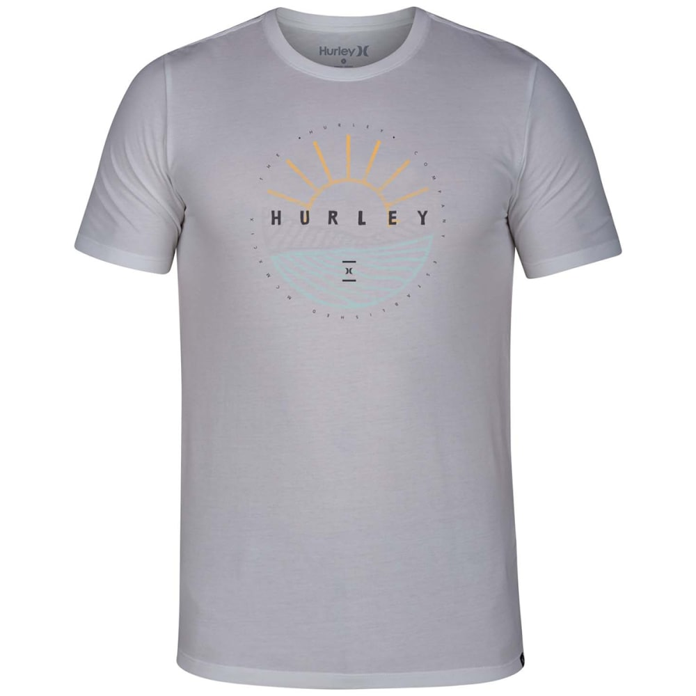 Hurley Young Men's Dri Fit Dawn Breaking Tee - White, S