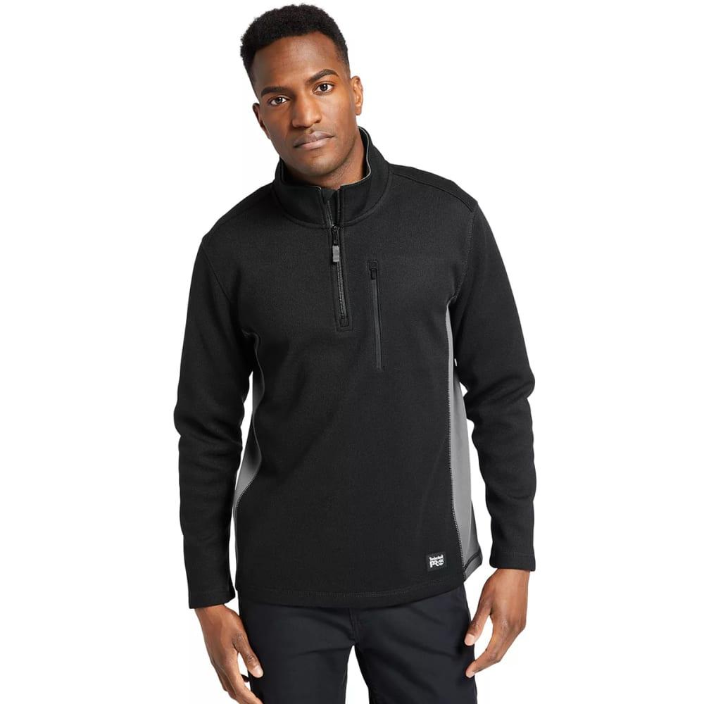 TIMBERLAND PRO Men's Studwall 1/4-Zip Textured Fleece Pullover - BLACK 015