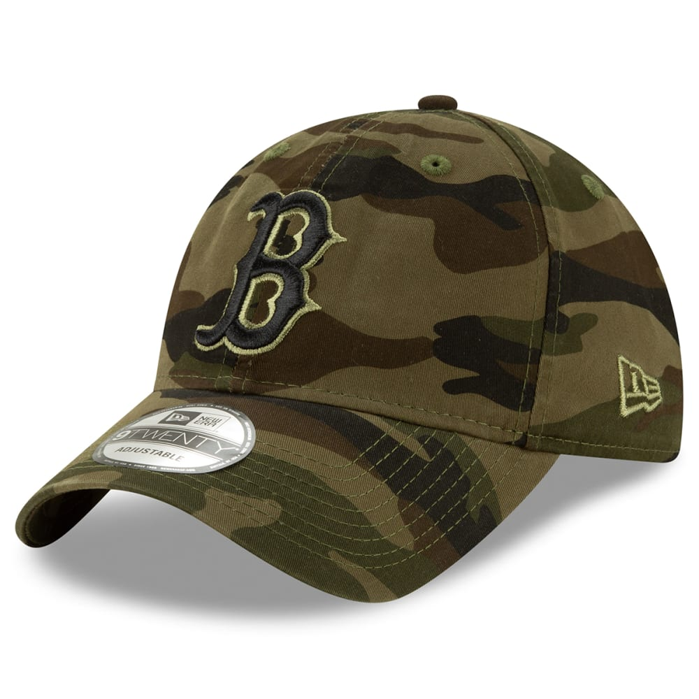 BOSTON RED SOX Men's New Era Camo Adjustable Hat ONE SIZE