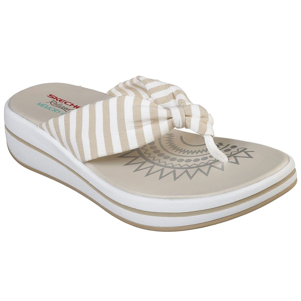 Skechers Women's Upgrades Thong Sandal - White, 6