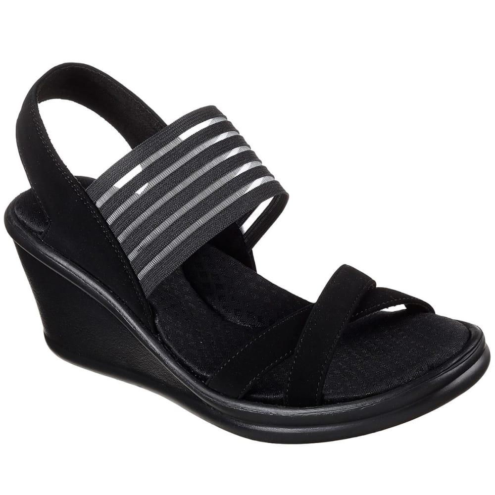 SKECHERS Women's Rumbler Solar Burst Sandal - BLACK-BBK