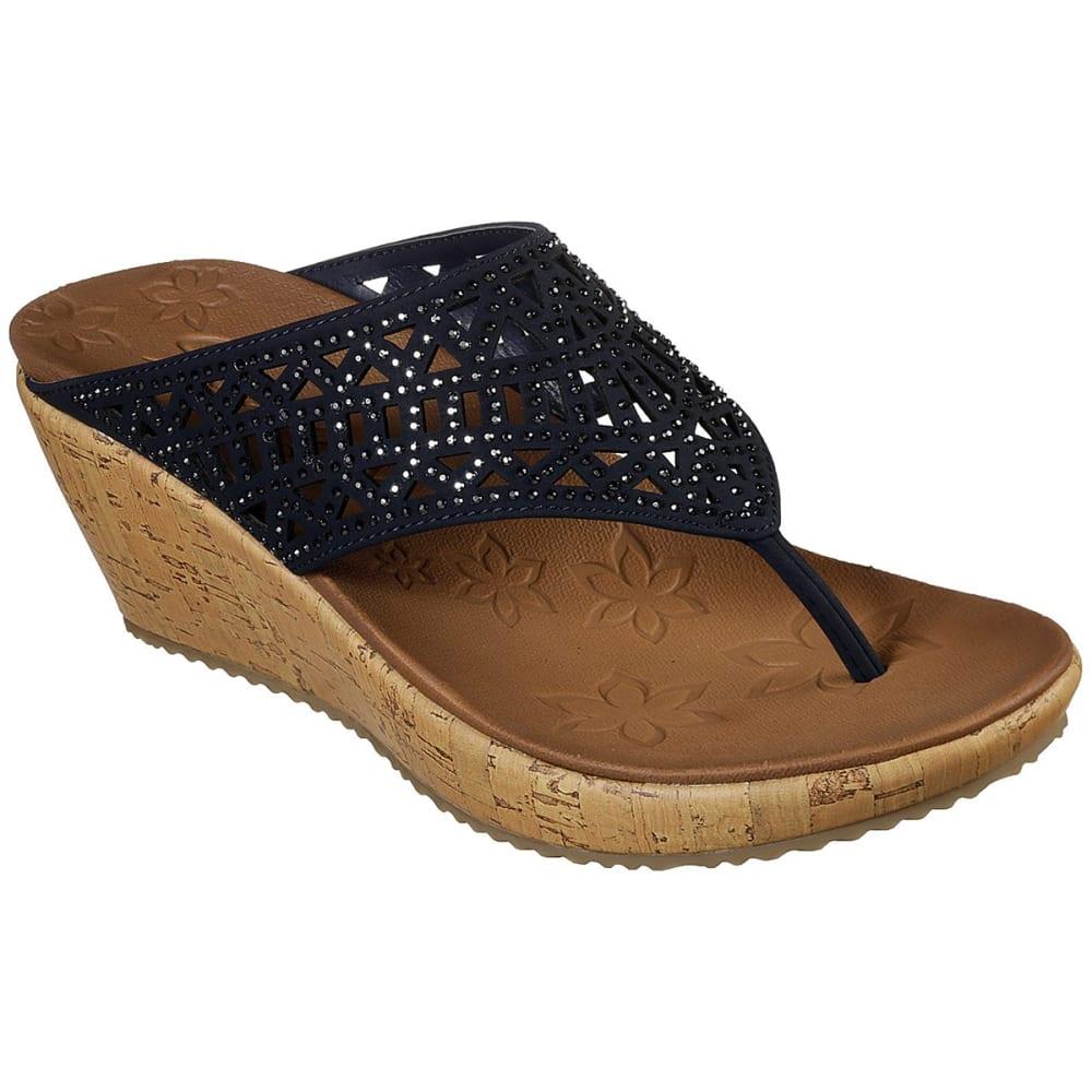 Skechers Women's Beverlee Summer Visit Sandal - Blue, 8