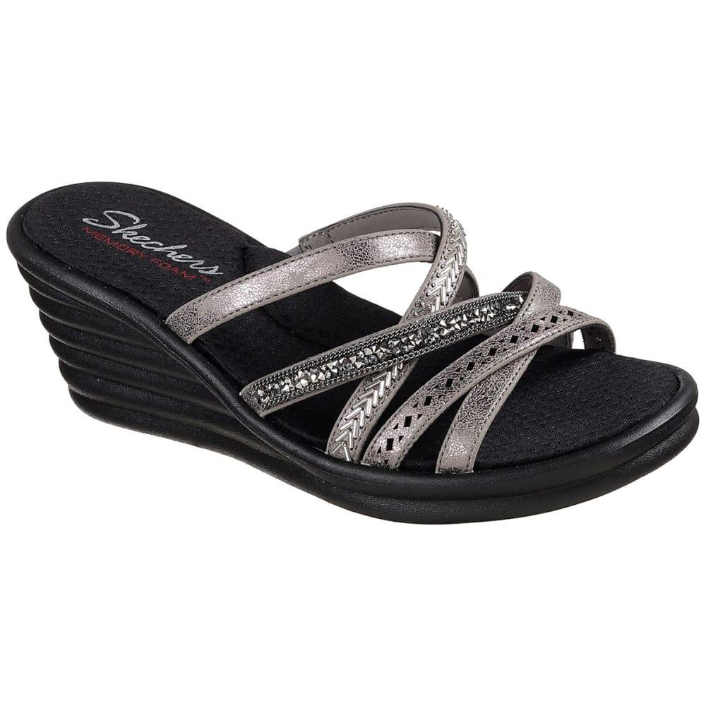 SKECHERS Women's Rumbler Wave New Lassie Sandals - PEWTER-PEW