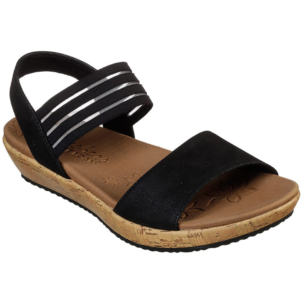 Skechers Women's Brie Lo'profile Sandals - Black, 7
