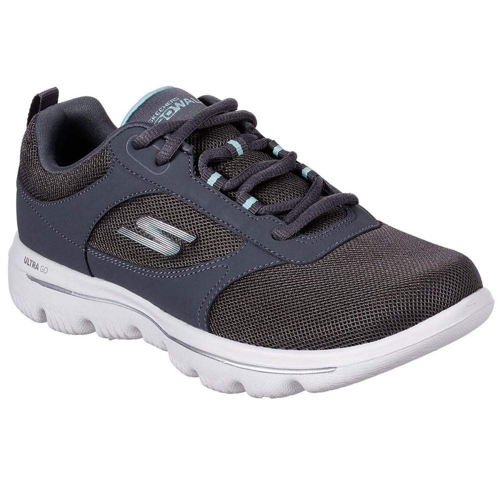 Skechers Women's Go Walk Evolution Ultra Enhance Walking Shoes - Black, 7